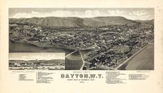 Dayton 1884 Bird's Eye View 24x41, Dayton 1884 Bird's Eye View
